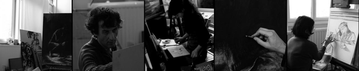 Atelier ce création artistique. Cours de peinture Paris